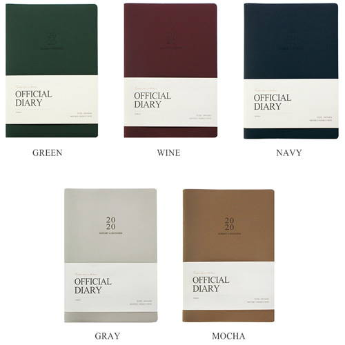 5 Colors - Official dateless weekly planner notebook