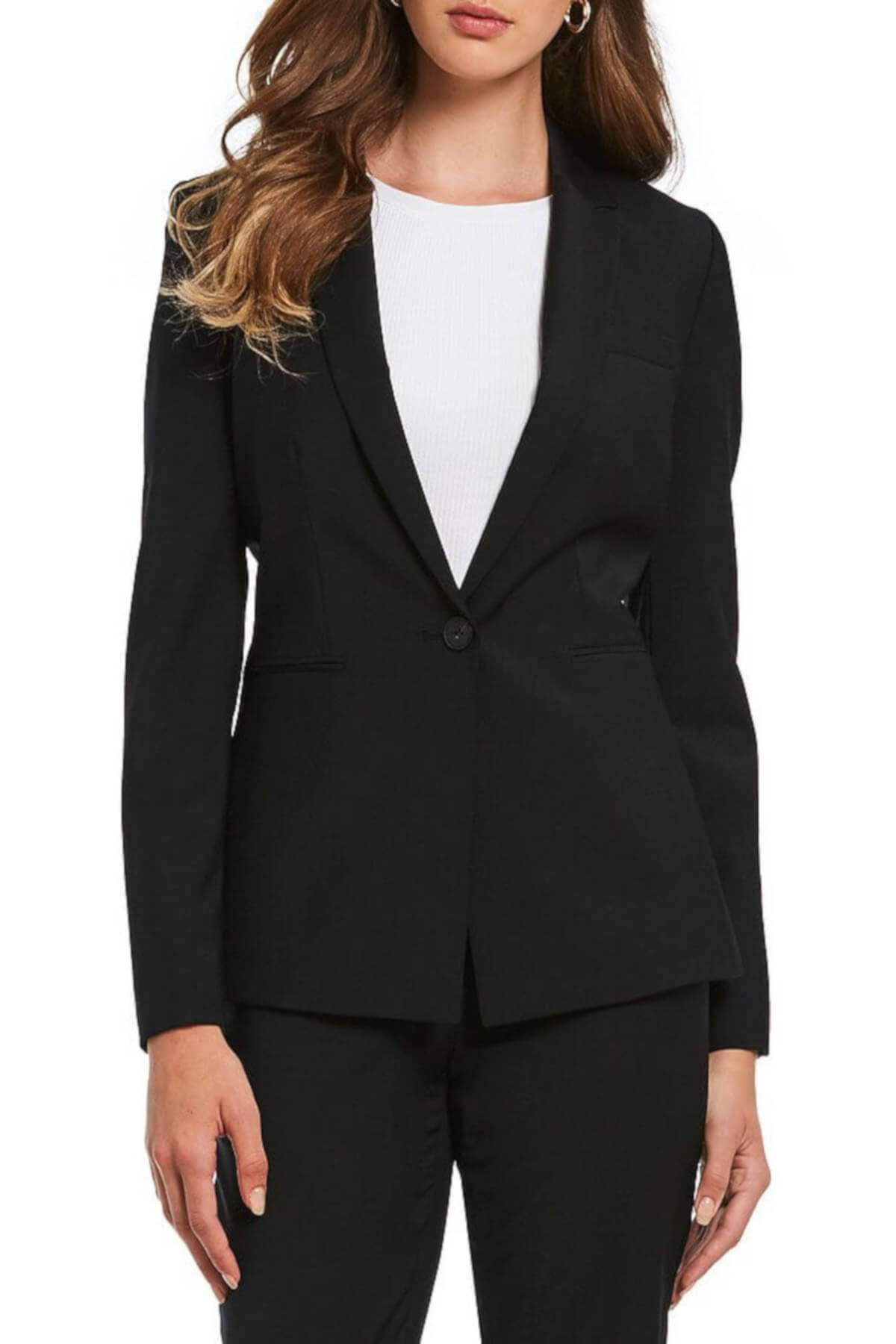 Black Antonio Melani Gayle Wool Blazer Business Casual Work Attire for Women