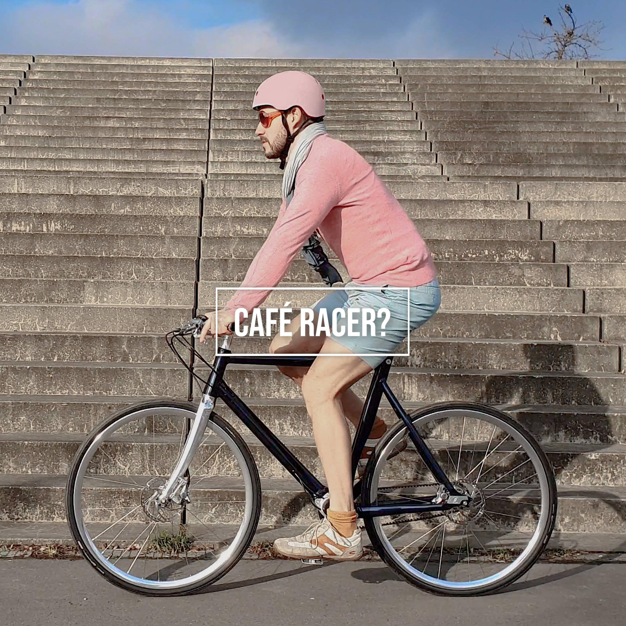 Bike Wheel Lock on Café Racer bicycle