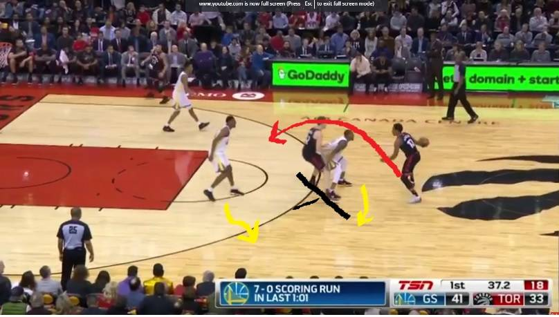 Unconventional pick and roll play