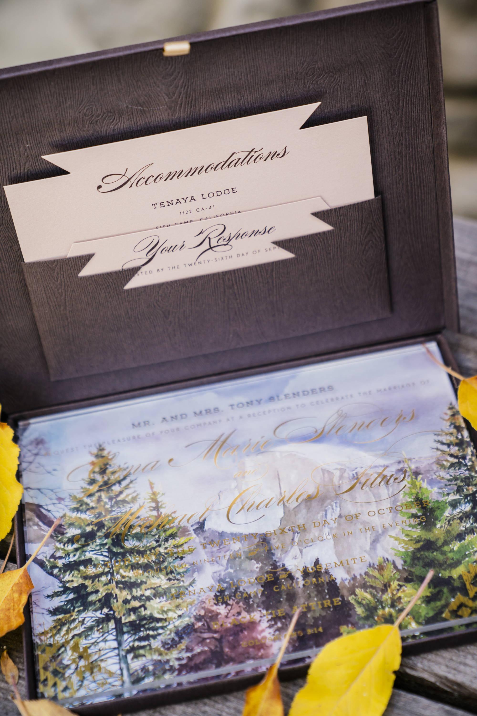 Yosemite Tenaya Lodge Wedding Invitation Suite