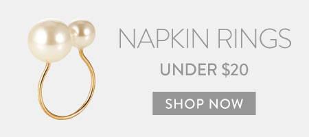 Napkin Rings under $20