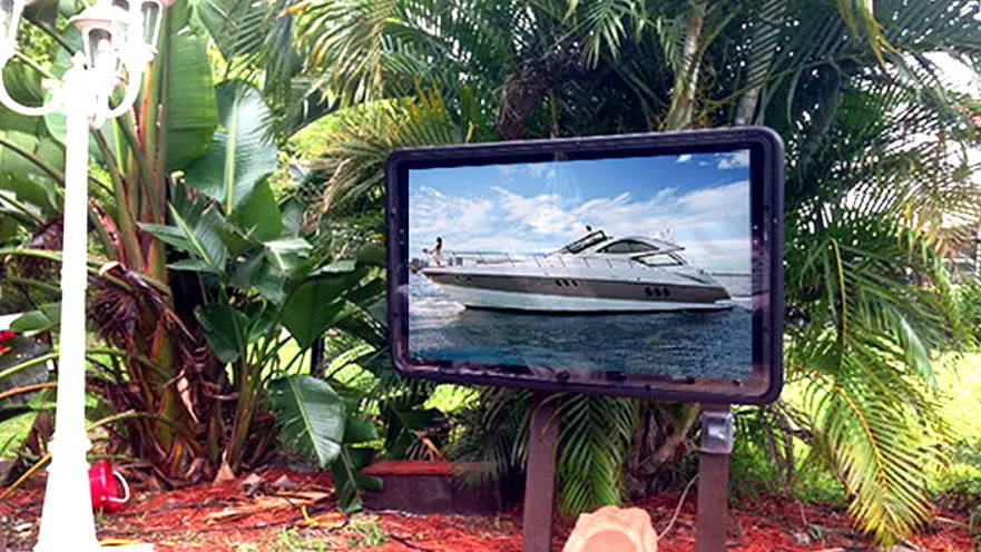 Outdoor TV digital signage corrosion resistant and protection