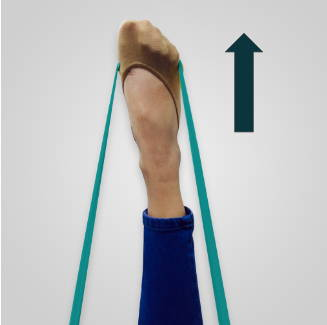Theraband exercise for sprained ankle