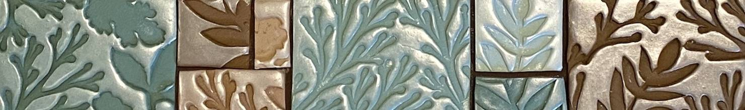 mica powder pigment on polymer clay tiles