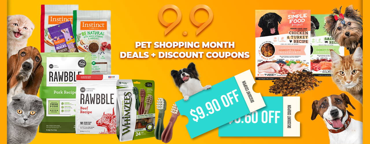 9.9 Pet Shopping Month with Deals & Discount coupons for more savings!