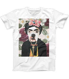 Pitbull renaissance dog art on mens crew