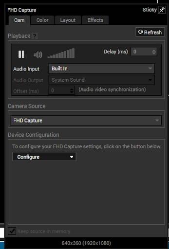 XSplit Audio Settings