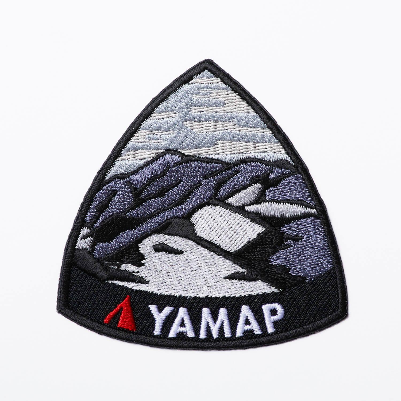 YAMAP(ヤマップ)/オリジナル刺繍ワッペン マウンテン/ブラック