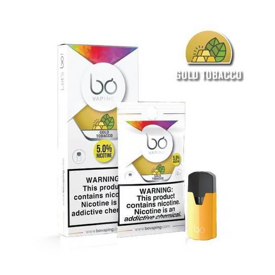 Gold Tobacco Bo Vape Pods by Bo Vaping