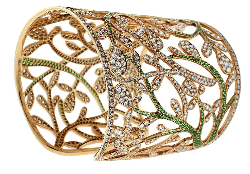 Diamond and Tsavorite Bracelet