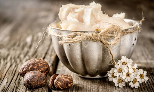 Shea Butter Oil of the charmingly named African Butyrospermum Parkii tree which has been considered