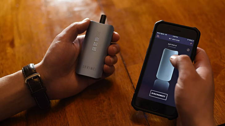 Davinci IQ Portable Dry Herb Vaporizer smartphone app