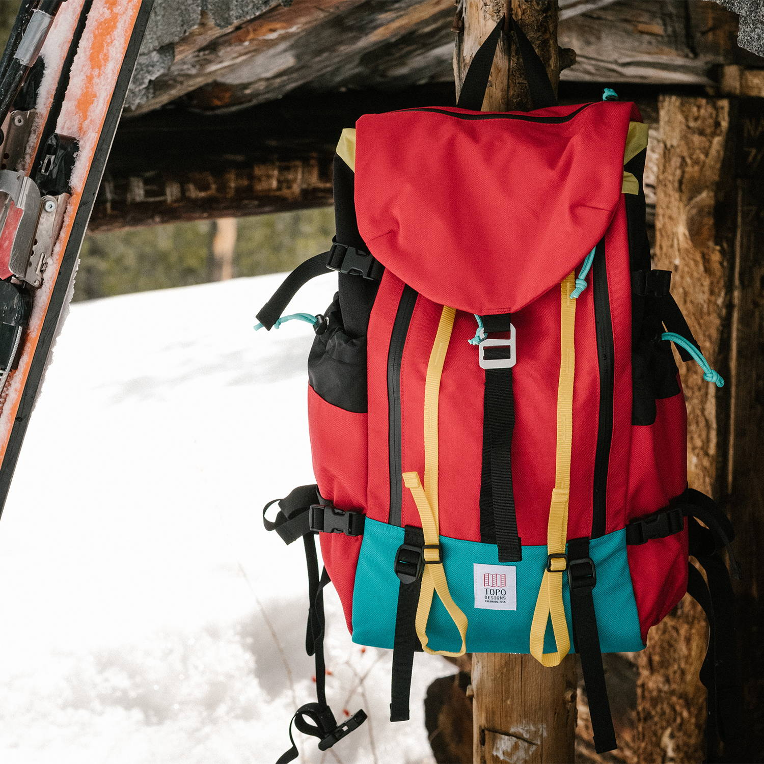 95480cf853cc Spacer mesh back panel and shoulder straps make the Mountain Pack a more  comfortable carry on the way up to climb