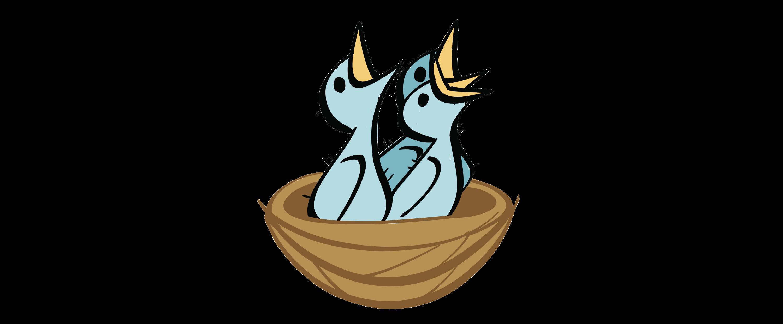 illustrated bird nest