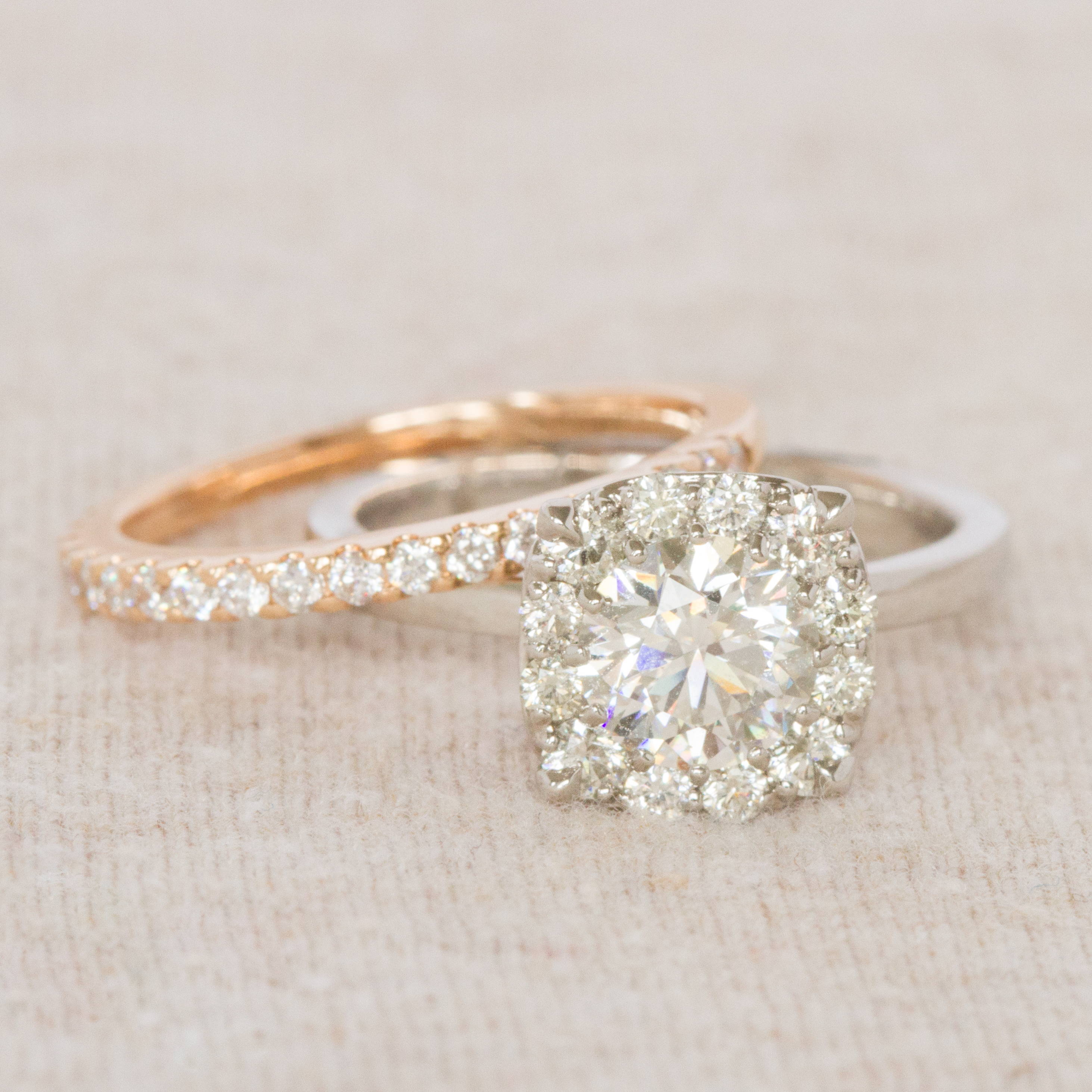Schiffman's Engagement Ring and Wedding Band