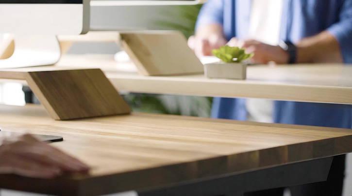Sit-Stand Desk Wood