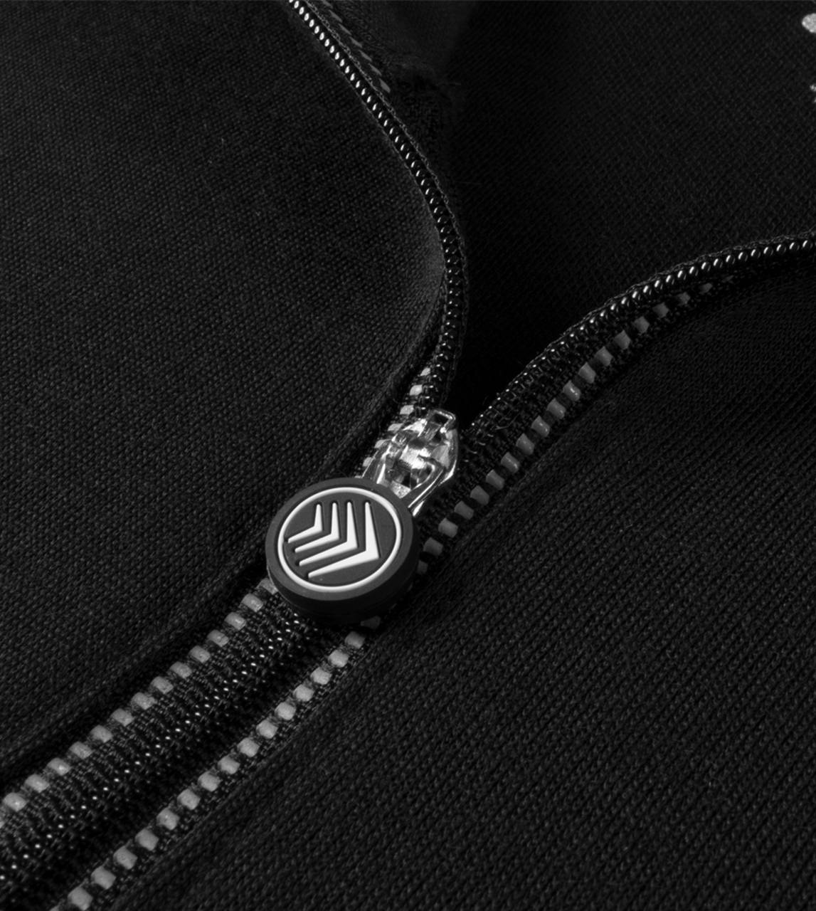merino wool pullover zipper detail