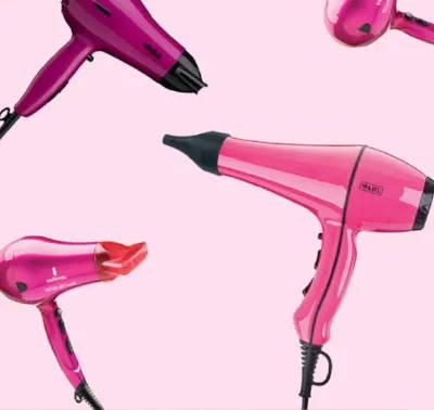 Pink hair dryers