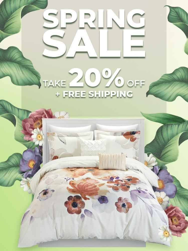 The Chic Home Store Spring Sale Banner - Save 20 Percent