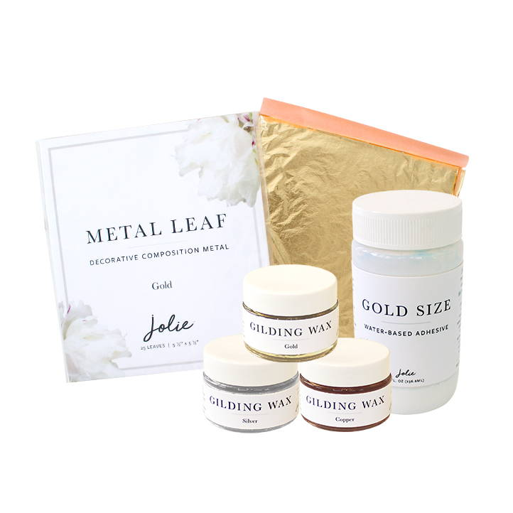 Jolie Embellishment products Gilding Wax Gold Size Metal Leaf
