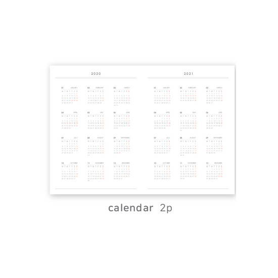 Calendar - O-CHECK 2020 Spring come A4 dated monthly planner