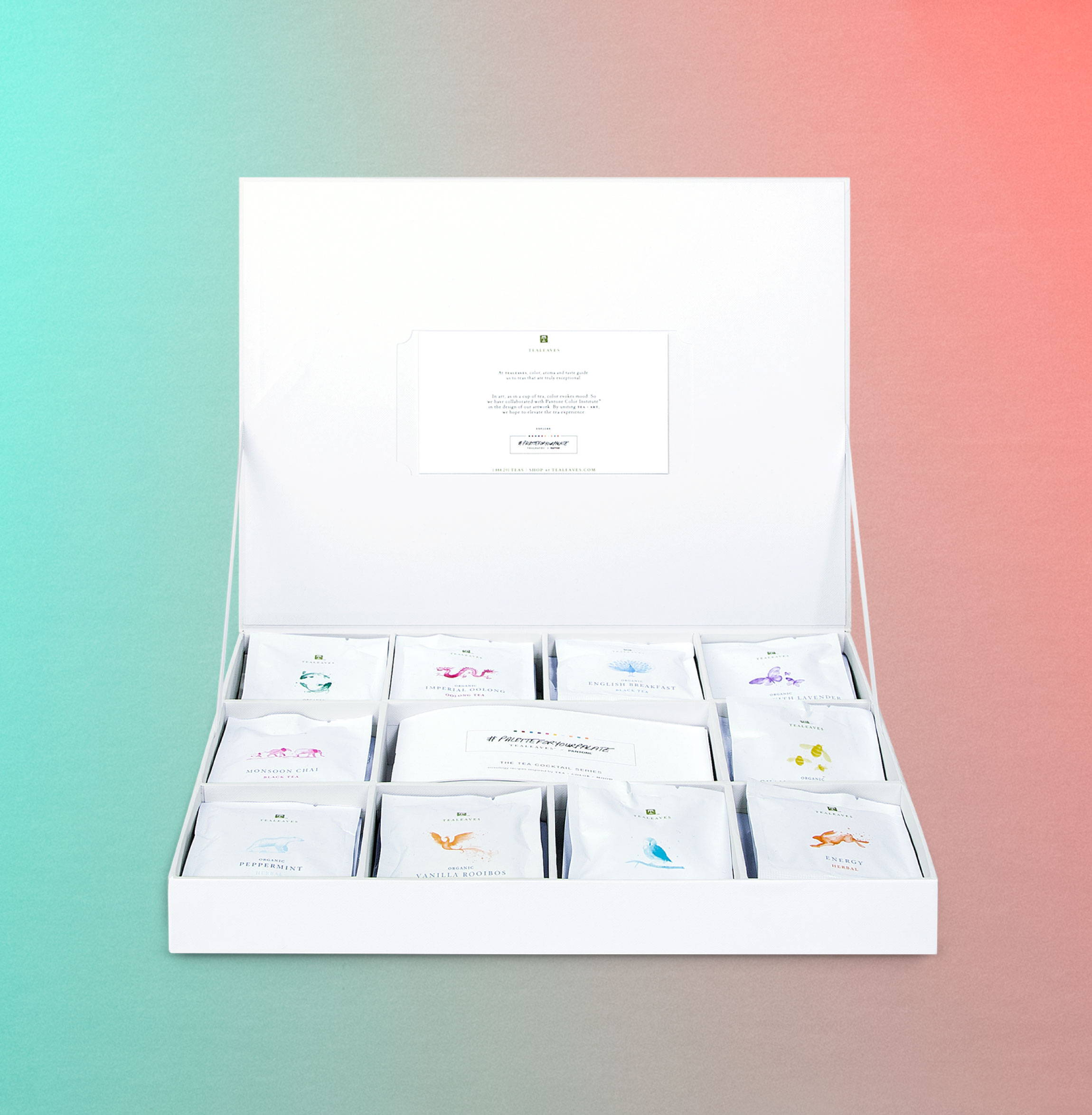 The Pantone Collection Gift Box, pyramid teabag collection