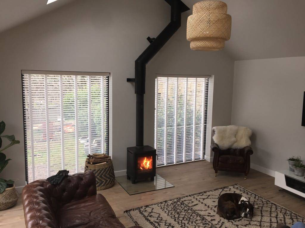 stove in a living room