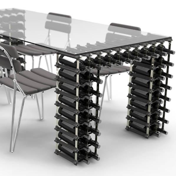 custom wine rack table legs