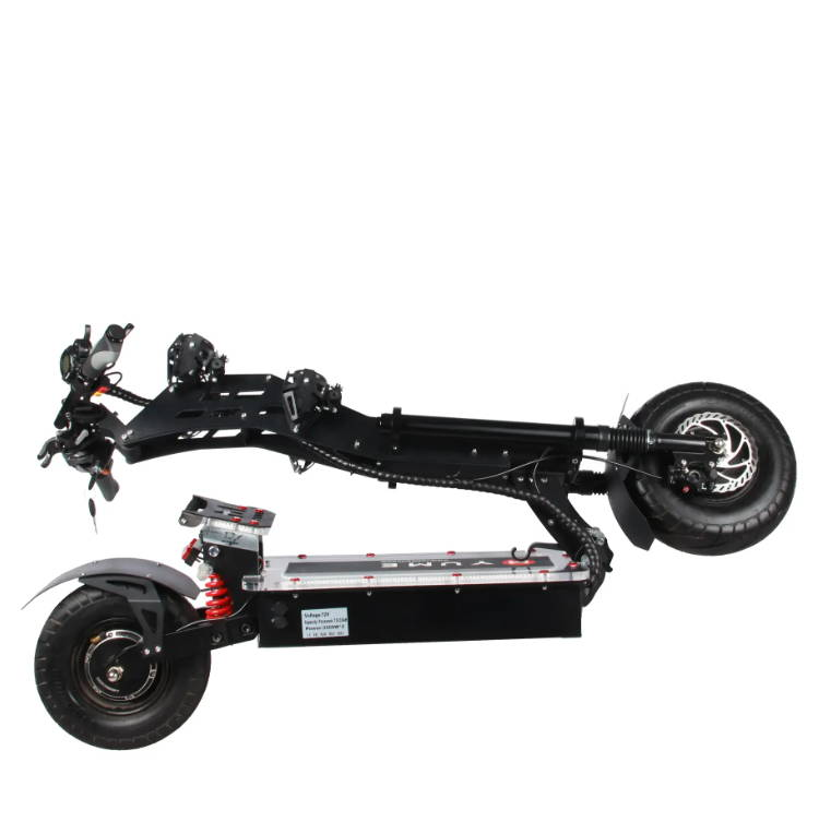 Folded Yume X7 scooter