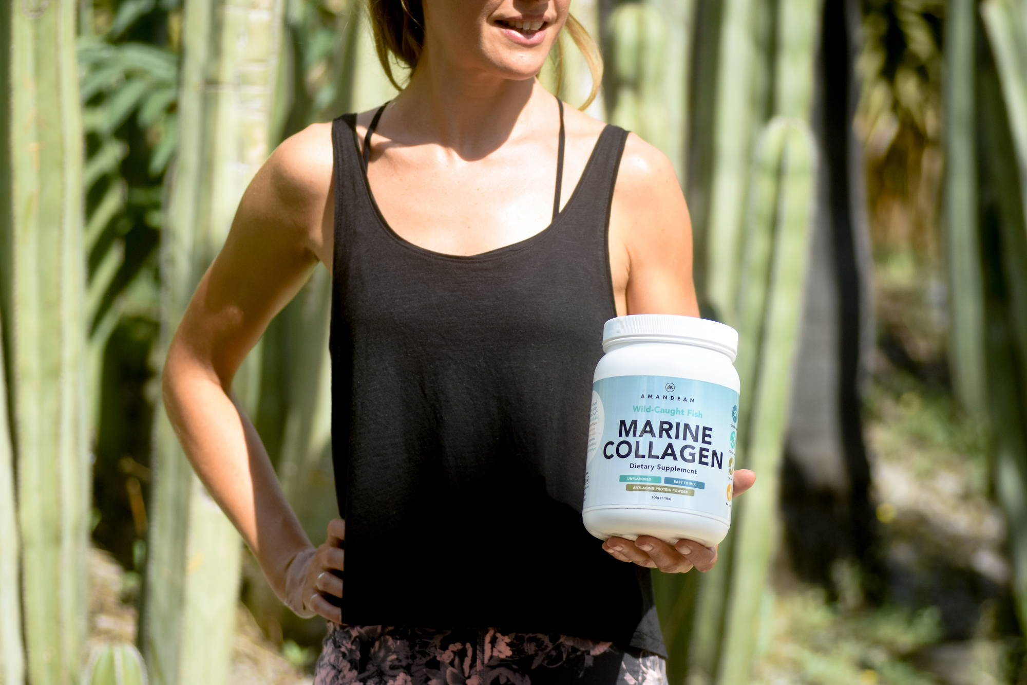 Fitness influencer using Wild-Caught Marine Collagen