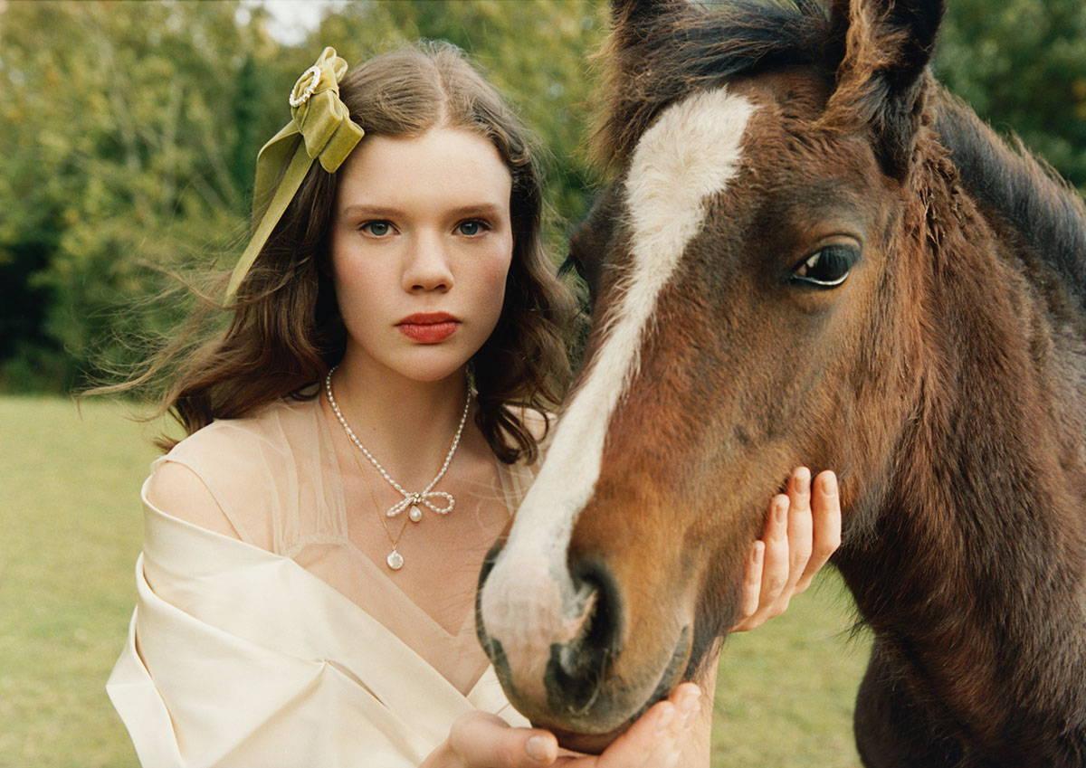 Lookbook image of model wearing Margaux Studios Jewellery