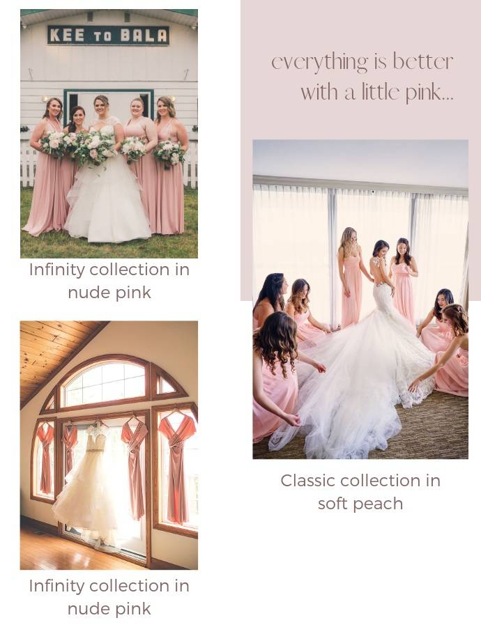 pink bridesmaid dresses canada