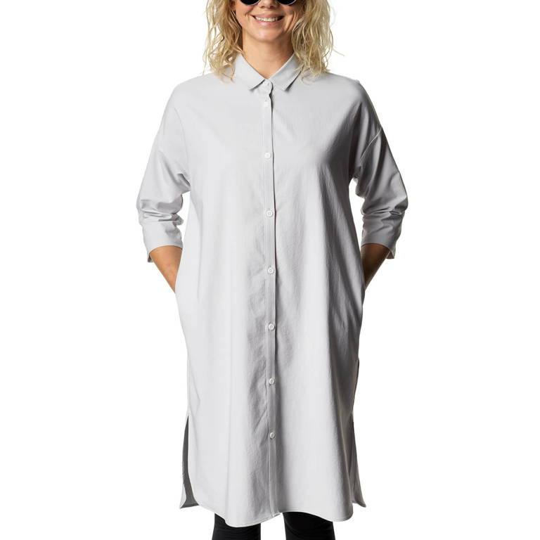 HOUDINI(フーディニ)/ルートシャツドレス/ライトグレー/WOMENS