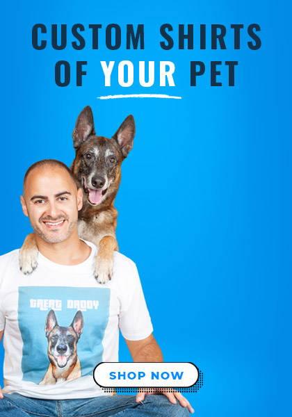 dog dad wearing custom treat daddy dog shirt