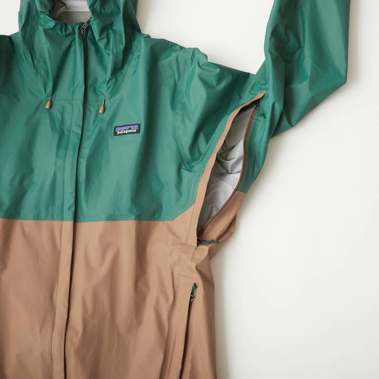patagonia(パタゴニア)/トレントシェル3Lジャケット/グリーン×ブラウン/MENS