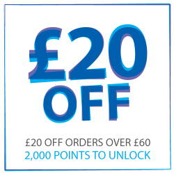 £20 off when you reach 2000 points