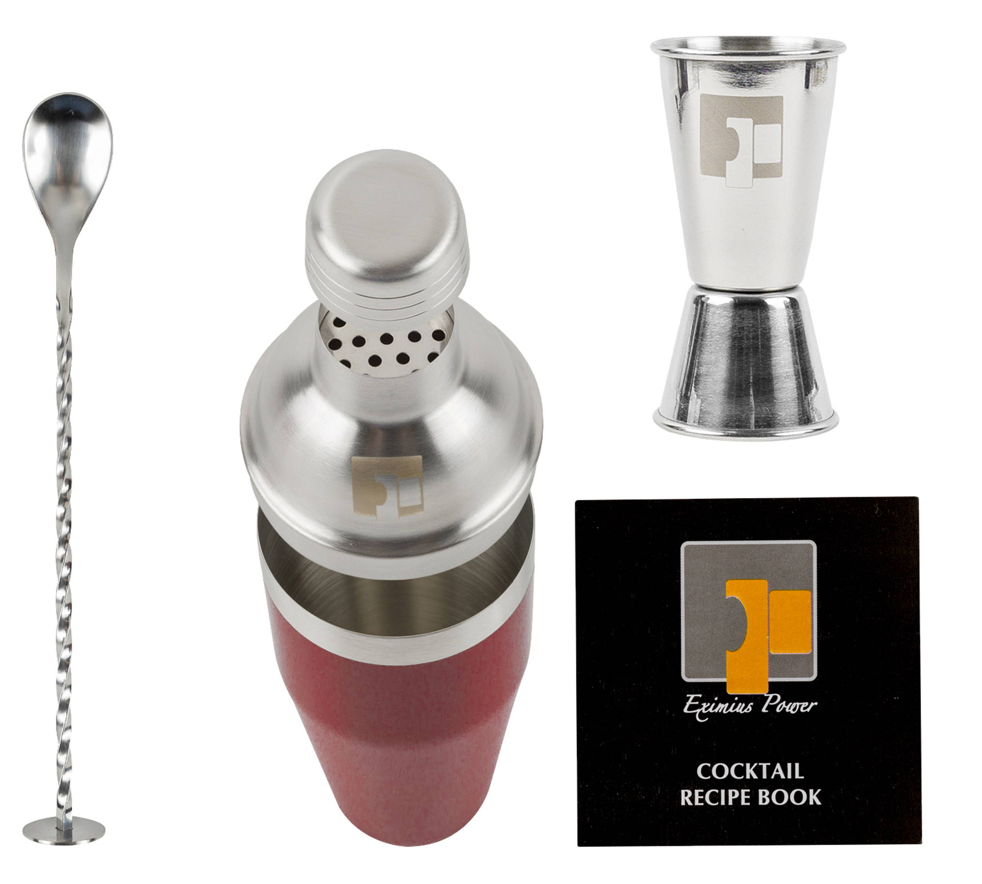 3 pc cocktail shaker set