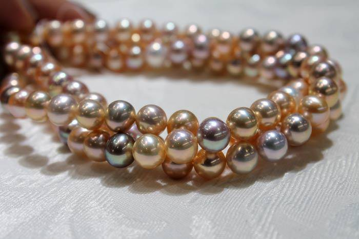 multicolor freshwater pearl necklaces