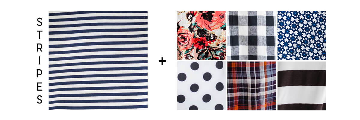 pattern mixing for beginners stripes