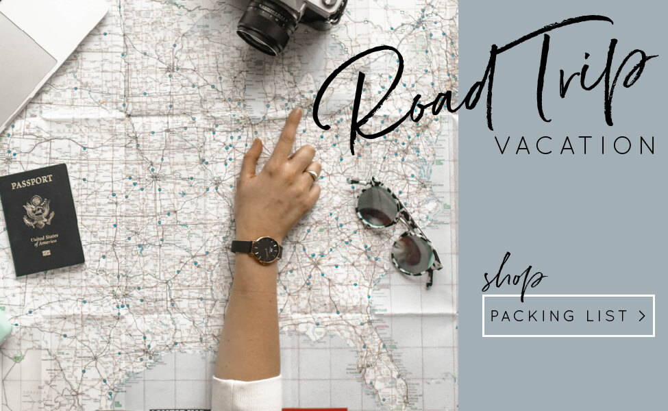 summer vacation road trip packing list