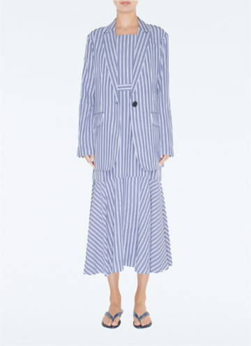 LInk To Viscose Twill Strappy Dress paired with oversized blazer.