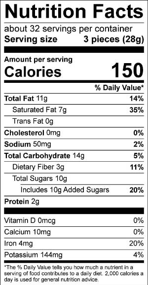 Mexican Hot Chocolate Truffles Nutrition Facts