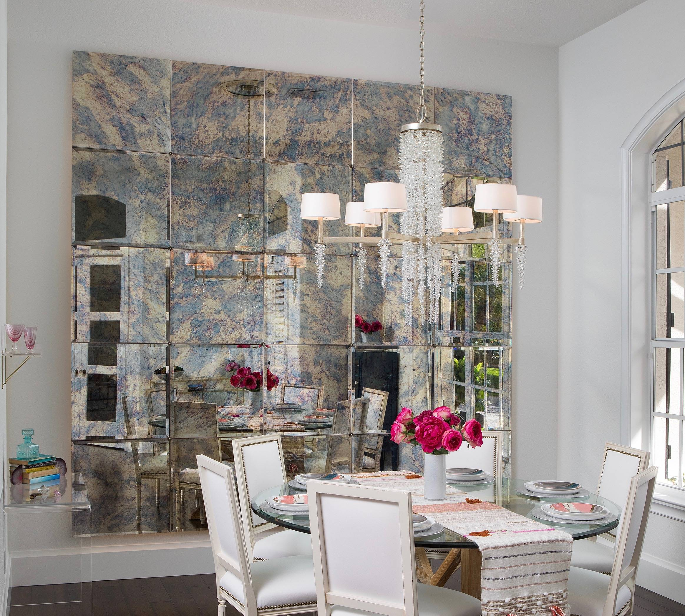 Antique mirrored walls