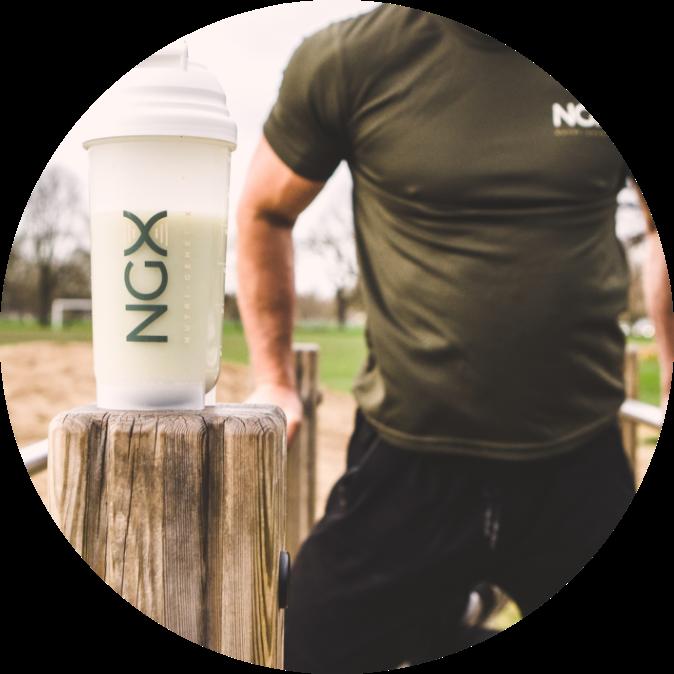NGX Athlete taking NGX BodyFuel