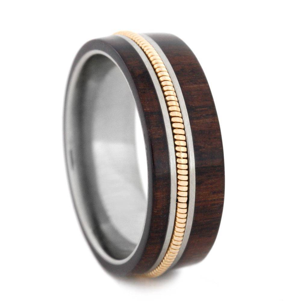 Rosewood Ring with Guitar String