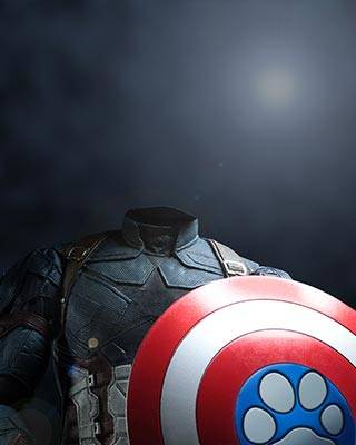 captain america dog art