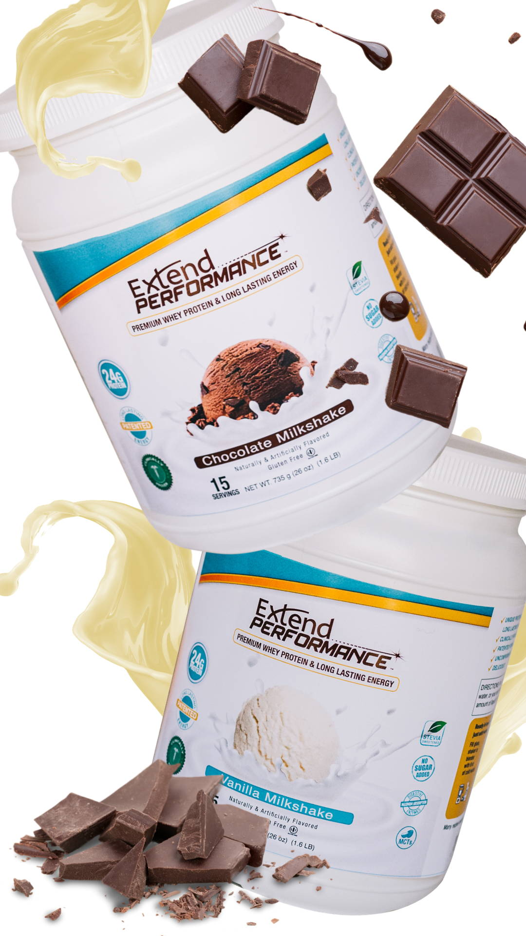 Extend Nutrition Whey Protein Performance Shakes