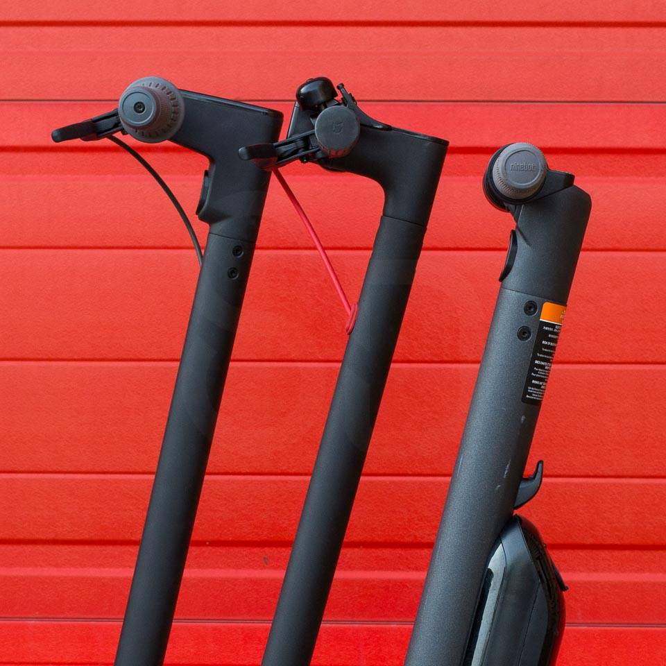 Ninebot Max G30 Electric scooter compared to M365 Pro Segway ninebot ES4 handlebar heights