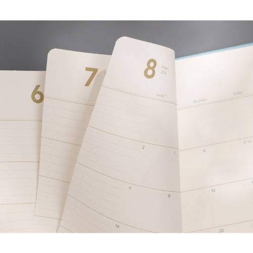 100gsm paper - 2020 Notable memory B6 dated monthly planner